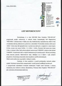Hala magazynowa Wiktoria - referencje