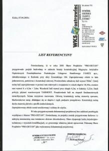 List referencyjny - Magazyn Famex