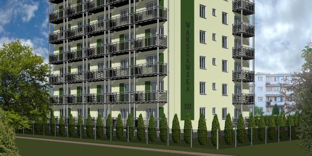 Dobudowa balkonów Kielce ul. Warszawska 103