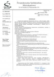 referencje ul. Toporowskiego 81 w Kielcach