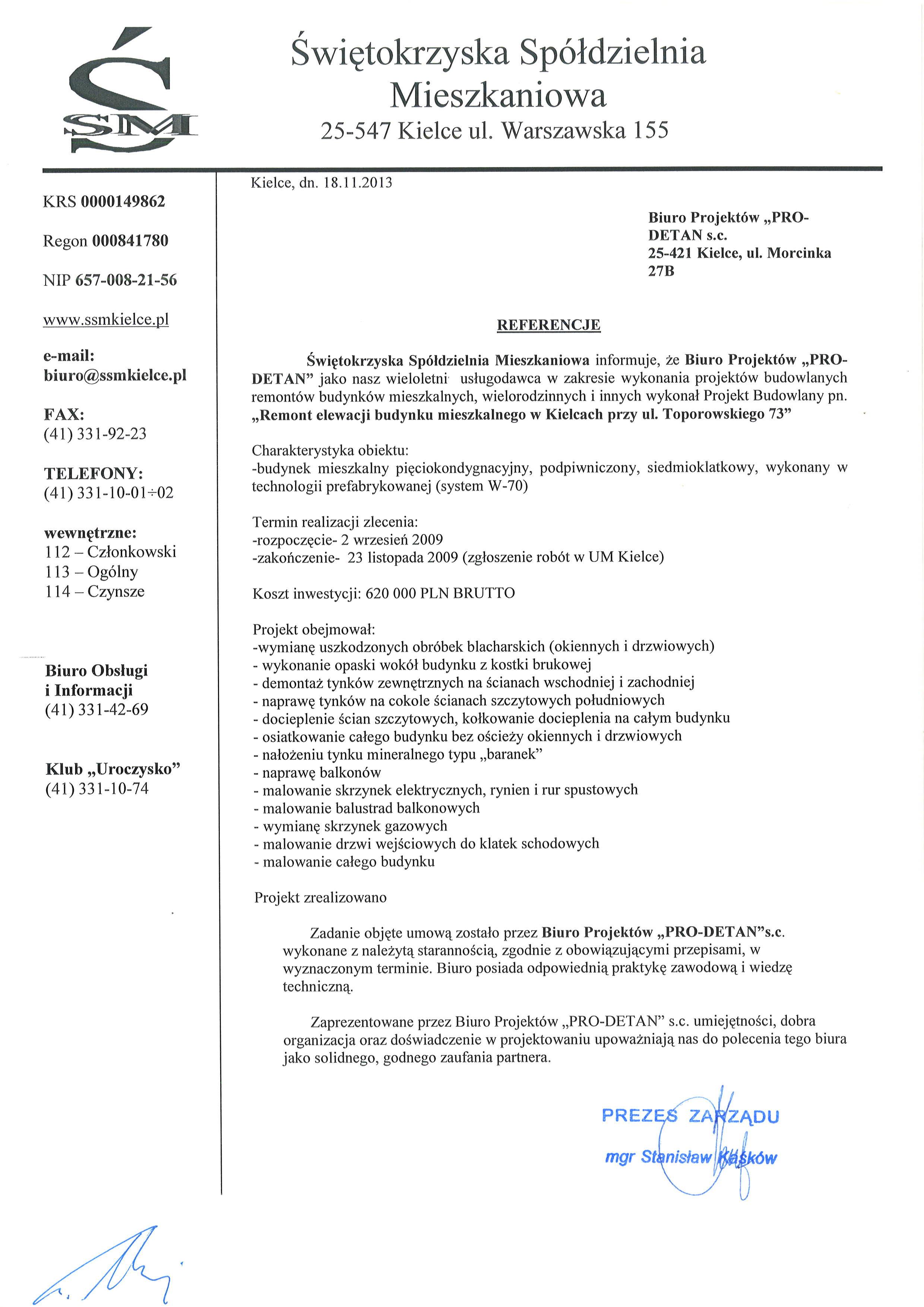 referencje ul. Toporowskiego 73