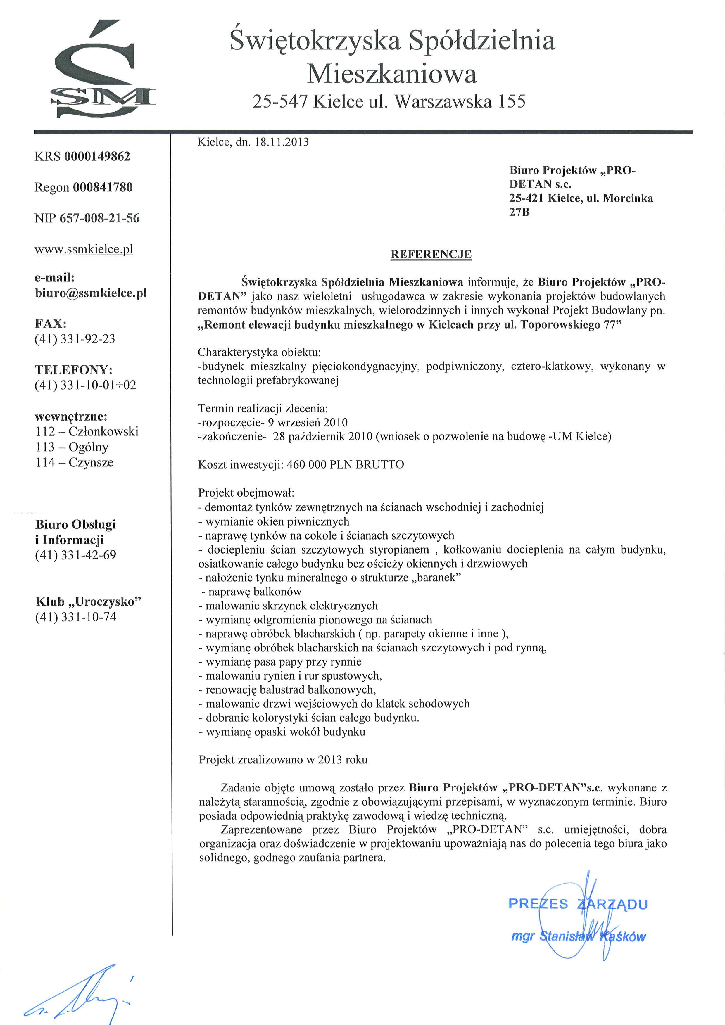 referencje Toporowskiego 77